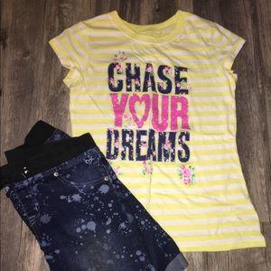Dreams Paint Splash Outfit by Justice, 2 pcs